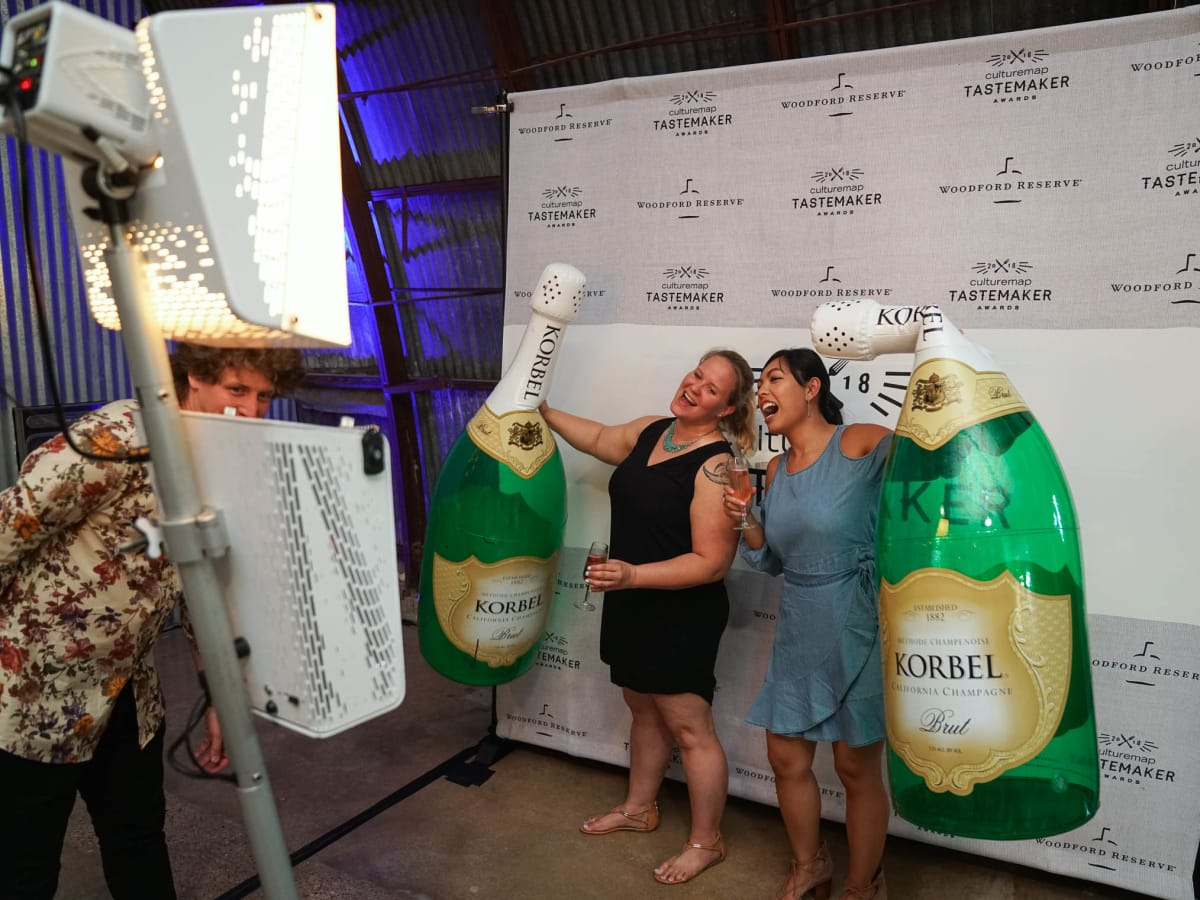 CultureMap Austin 2018 Tastemaker Awards at Fair Market Photo Booth Melissa Mabasa Cheryl O'Connor