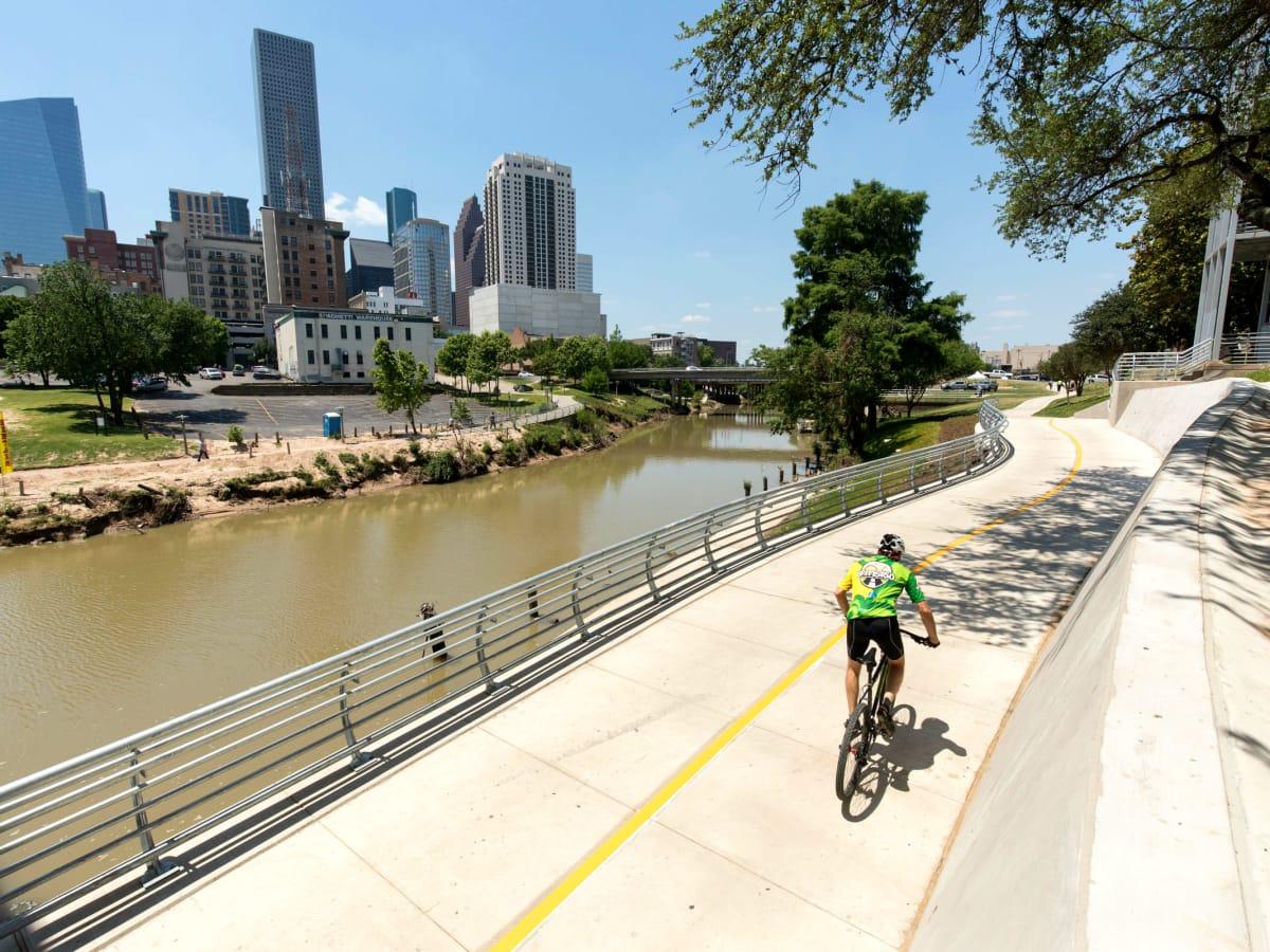 White Oak bayou Buffalo Bayou trail link Houston