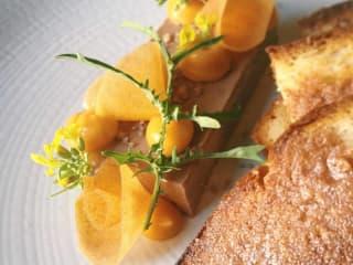 Olamaie pork liver mousse Sally Lun bread dish