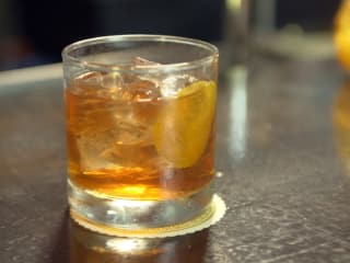 Classic old fashioned made with Old Forester Kentucky Straight Bourbon Whisky