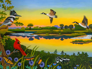 "William Reaves | Sarah Foltz Fine Art presents ""Of Texas Rivers and Texas Art"" opening day"