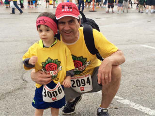 Marty Massey and his grandson at the 13th Annual Run for the Rose