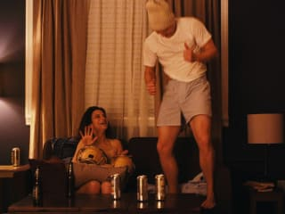 Jenny Slate and Jake Lacy in Obvious Child