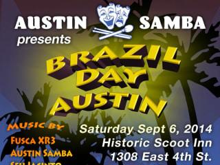 poster Brazil Day austin at scoot inn Austin Samba
