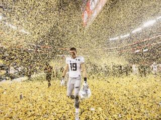 Football Confetti by Tim Heitman