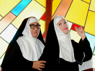 Sister Walburga (Randall Jobe) and Mother Superior (Joel Sandel)