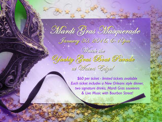 Waters Edge Venue presents Mardi Gras Masquerade