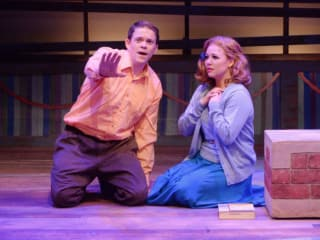 Kregg Dailey and Holland Vavra in Big Fish