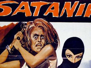 poster for Italian pop art film Satanik