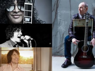 collage for SXSW Jimi Hendrix Celebration with Slash, Wayne Kramer, Rusty Anderson and Jesse Malin