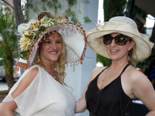 Kentucky Derby party at Mo's May 2013 Chyra Blackaller, Lori Freese