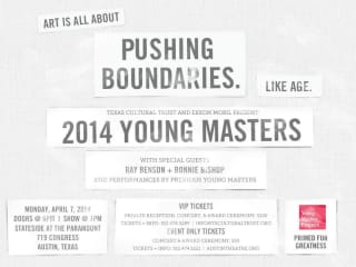 poster for the 2014 Texas Young Masters