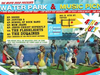 poster for north door Fourth of July water park and music picnic 2014