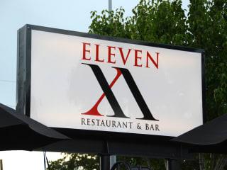 6 Eleven XI restaurant and bar sign