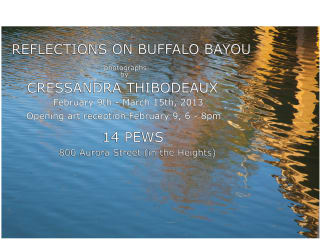 Art opening reception: Reflections on Buffalo Bayou by Cressandra Thibodeaux