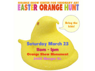 Orange Show's Annual Easter Orange Hunt & PEEPS Art Contest