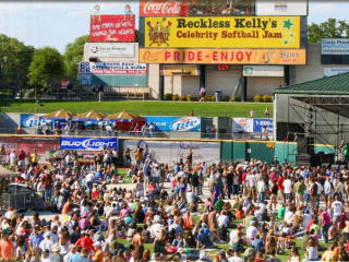 Crowds gather at Dell Diamond for Reckless Kelly's Celebrity Softball Jam