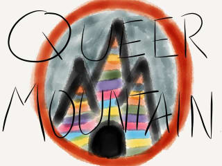 logo for Greetings from Queer Mountain