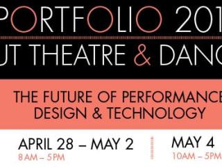 Banner for UT theatre and dance Portfolio 2012 exhibit
