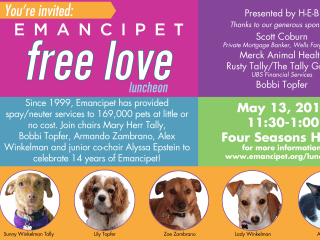 Emancipet Free Love Luncheon May 2013