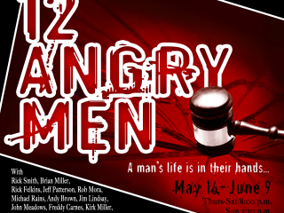 flyer for the City Theatre's Twelve Angry Men production