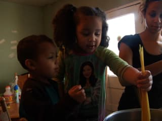 Children cooking in A Place at the Table documentary about food insecurity