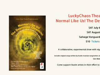 LuckyChaos show Normal Like Us! poster