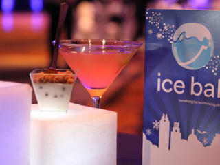 The Ice Ball invitation with cocktail