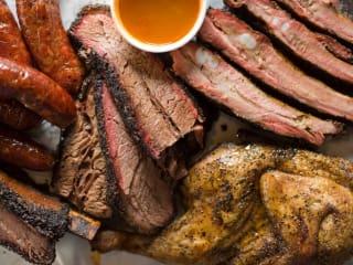Louie Mueller Barbecue sausage ribs chicken brisket
