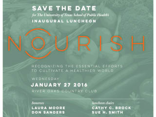 UTHealth School of Public Health Nourish Luncheon 2016