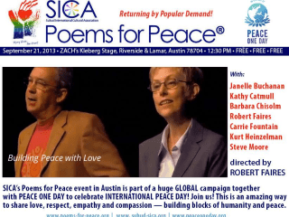 Poems for Peace for Peace Day at ZACH