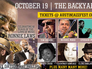 Austin Jazz Festival 2013 banner with performers