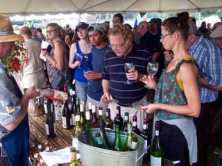people during a wine tasting