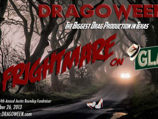 flyer for Dragoween 2013 Nightmare on Glam Street