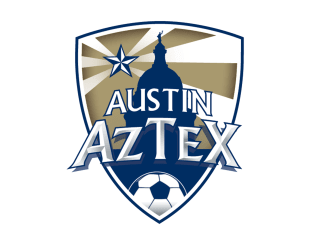 Austin Aztex football club soccer team logo crest 2015