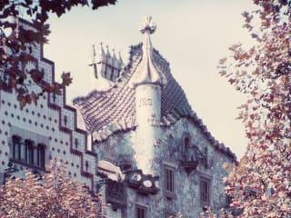 still from Hiroshi Teshigahara's film about architect Antonio Gaudi