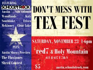 flyer for School of Rock Texas Fest