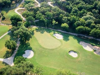 aerial shot of golf course at Twin Creeks Country Club in Cedar Park