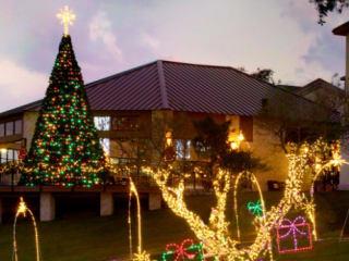 holiday lights and ice at Barton Creek Resort and Spa