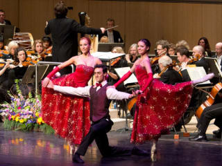 dancers performing during Salute to Vienna at Long Center