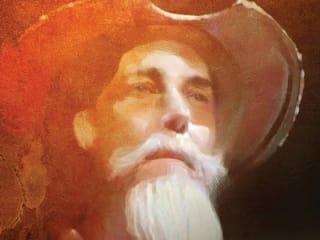 painting of Don Quixote for Long Center's Man of La Mancha
