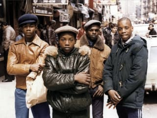 Jamel Shabazz photograph of youths in New York
