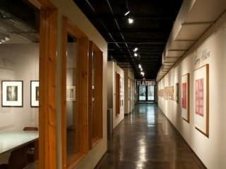 interior of Flatbed Press and Gallery