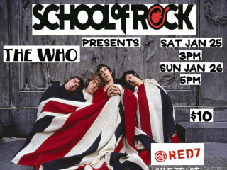 poster for the School of Rock show The Who