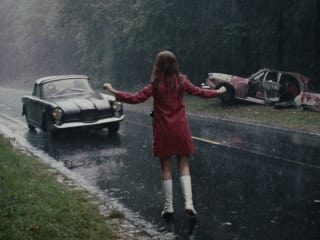 still from the Jean-Luc Godard film Week End