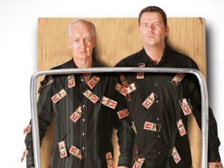 Colin Mochrie and Brad Sherwood in Two Man Group