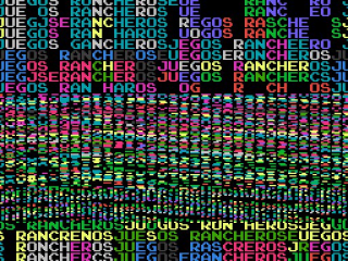 8-bit logo for Juegos Rancheros video games