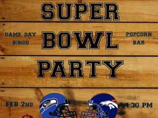 poster for the Mohawk super bow watch party