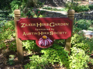 zilker herb garden sponsored by Austin Herb Society