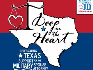 flyer for the Deep in the Heart fundraiser for Military Spouses Attorneys